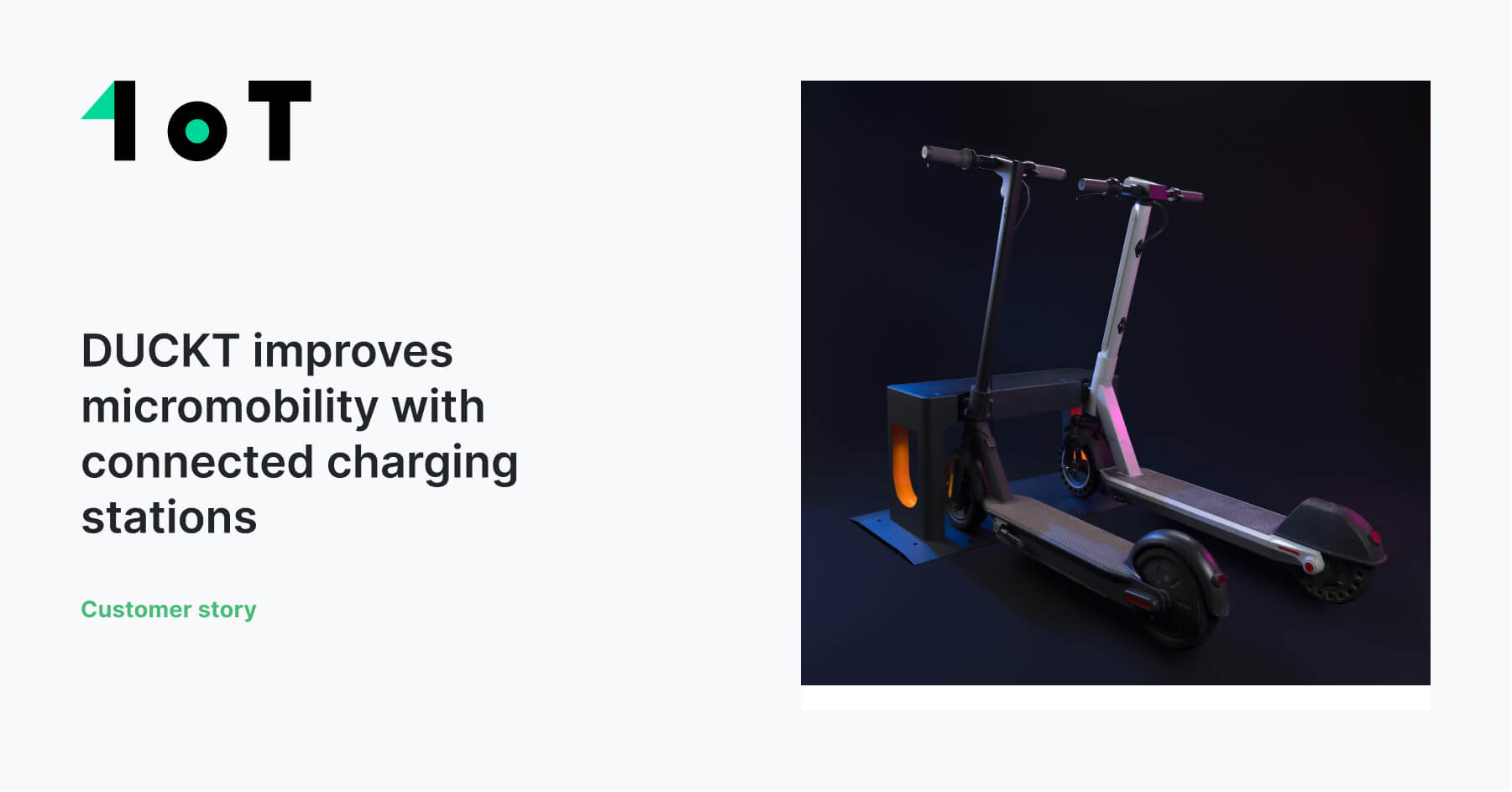 Article cover image for DUCKT improves micromobility with connected charging stations